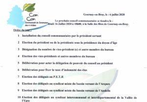 Conseil communautaire du 16 juillet 2020