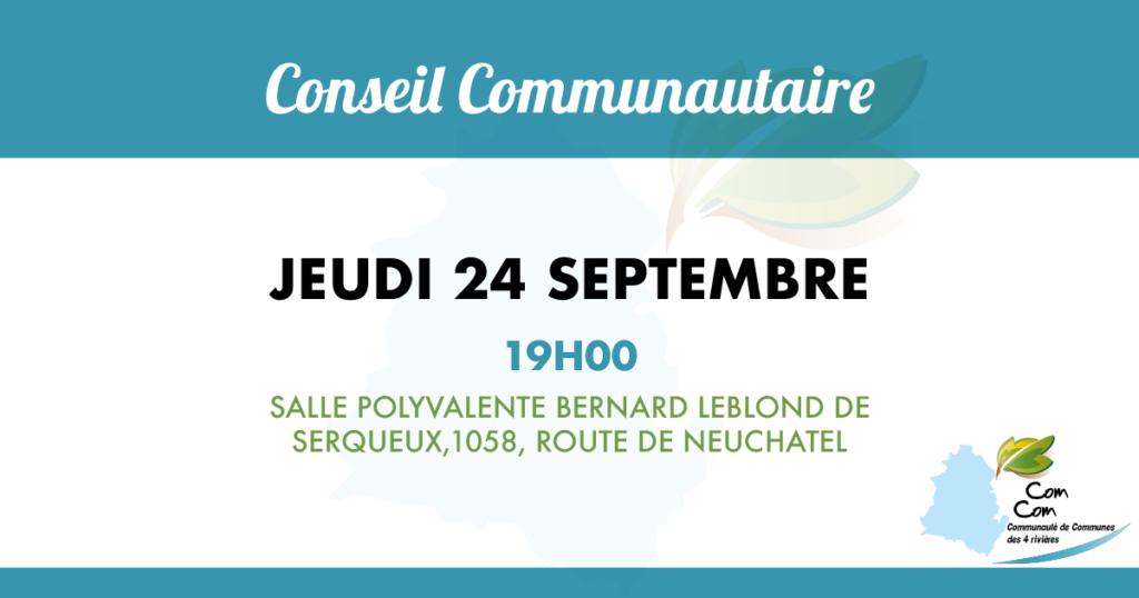 conseil communautaire du 24 sept 2020