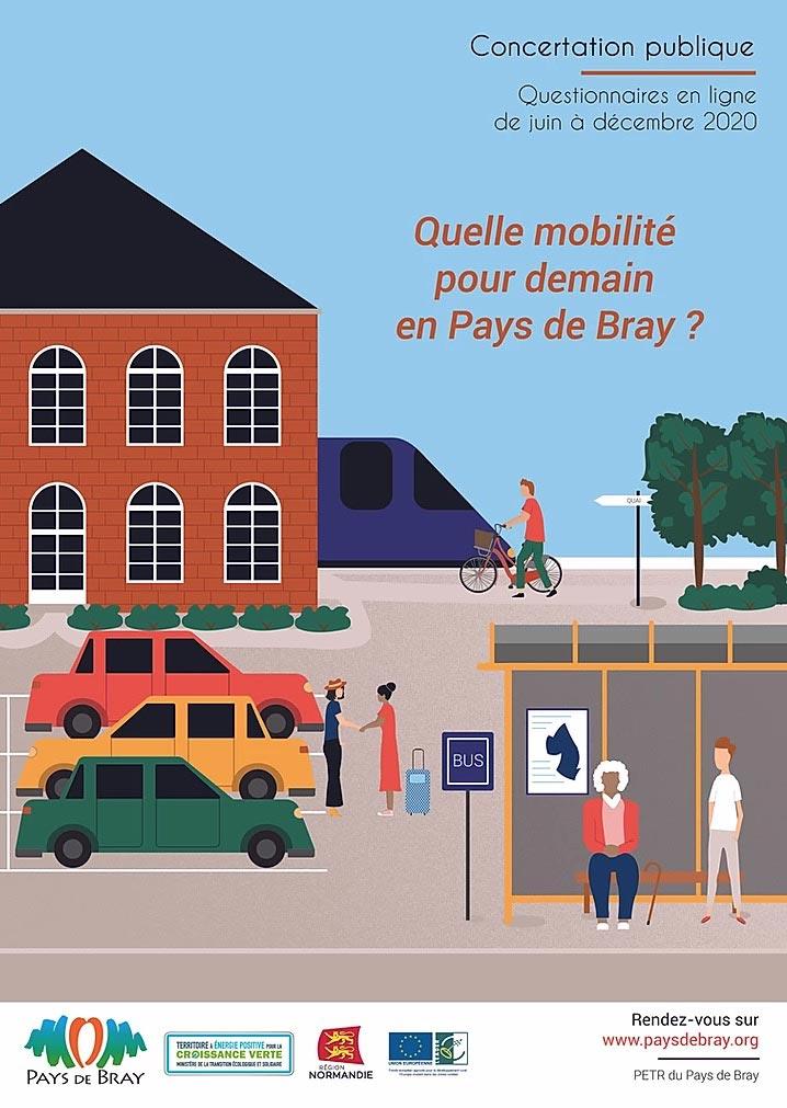 visuel pour enquete de mobilité au pays de bray