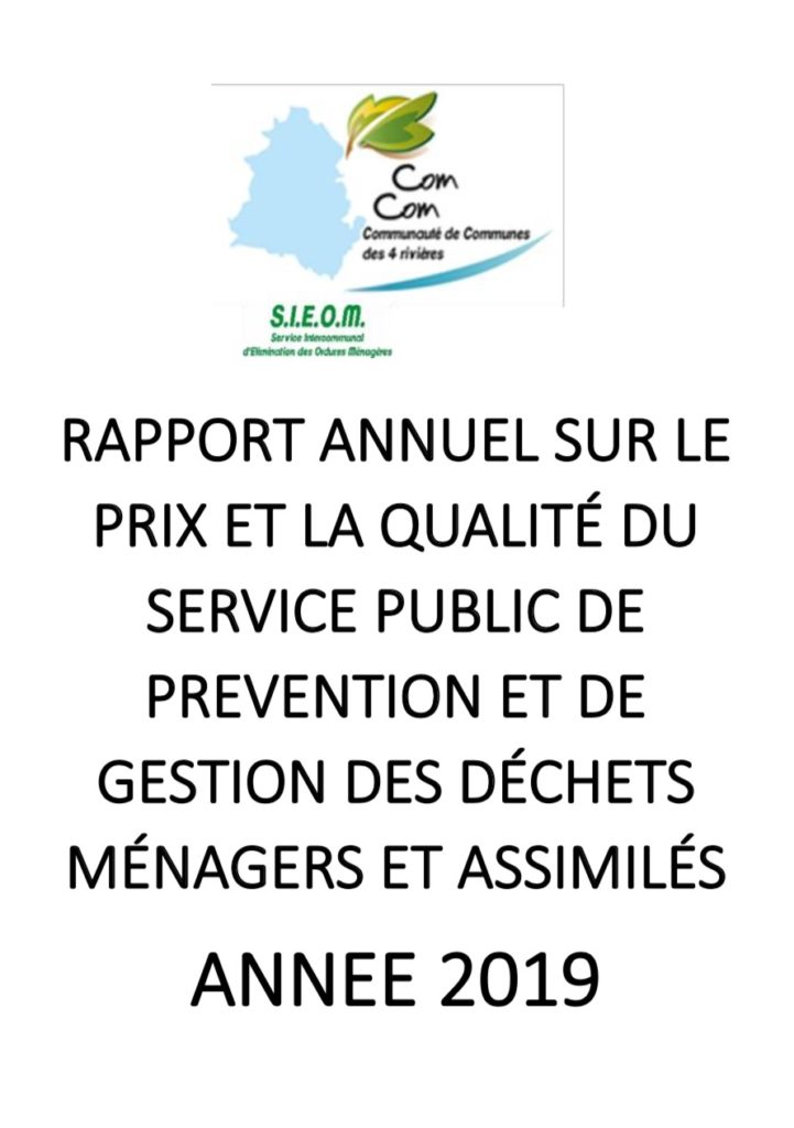 couverture rapport annuel SIEOM